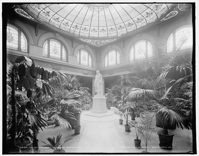 Rotunda room, Jefferson Statue, Jefferson Hotel, Richmond, Virginia