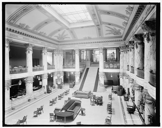 Jefferson Hotel staircase, Richmond, Virginia