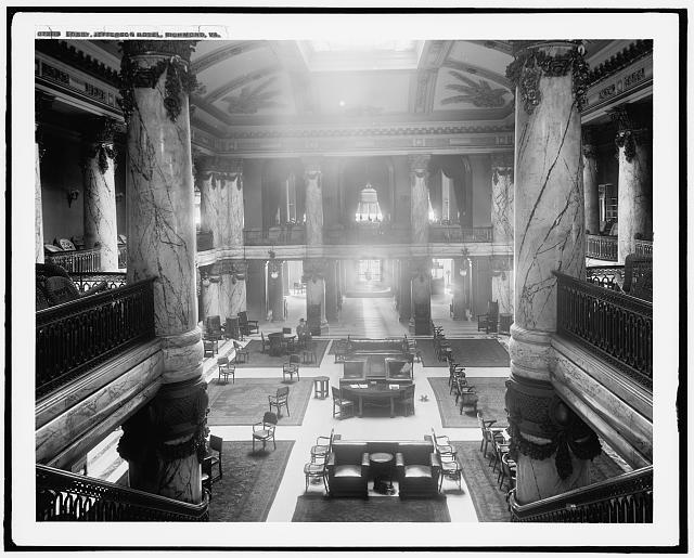 Jefferson Hotel Lobby, Richmond, Virginia