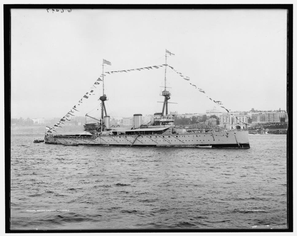 Inflexible the British warship built in 1880