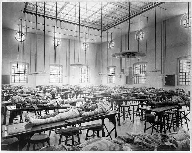 Dissecting room at Jefferson Medical College, Philadelphia, Pa. 1890