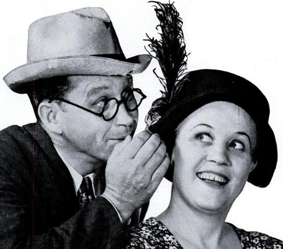 "Jim and Marian Jordan as Fibber McGee and Molly"" Life Magazine ad 1937"