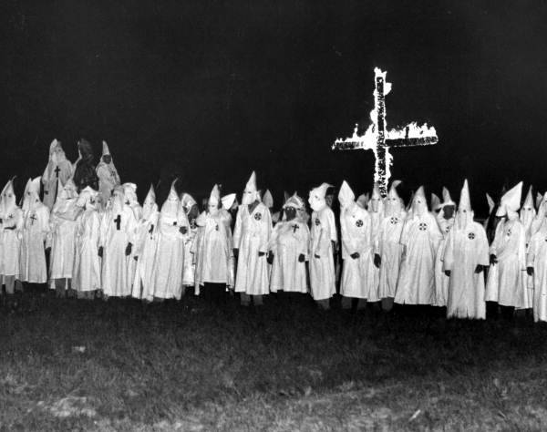 Ku Klux Klan parading through Virginia. 1922