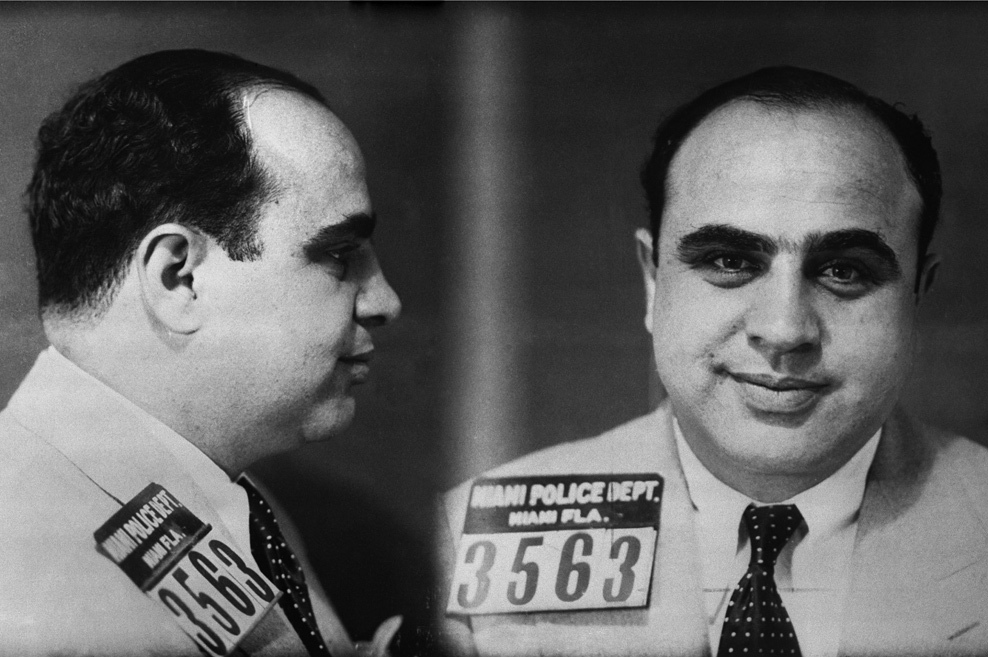 1932–1939: Al Capone served seven years of an 11-year sentence in federal prison on Alcatraz Island for tax evasion. He was let out of jail early while suffering with the advanced stages of syphilis. Capone was one of the most notorious gangsters of the that time, and was suspected, but never convicted, to be behind the St. Valentines Day Massacre (1929).