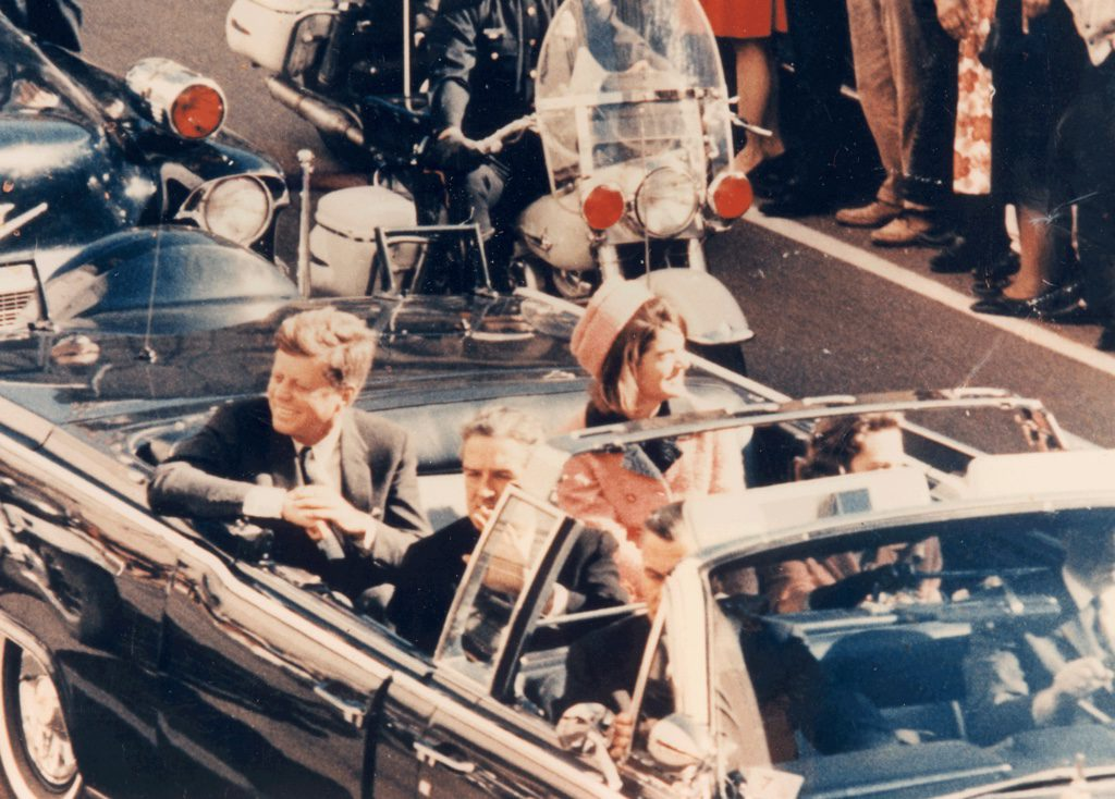 JFK, Dallas, November 22, 1963. Minutes before the assassination.