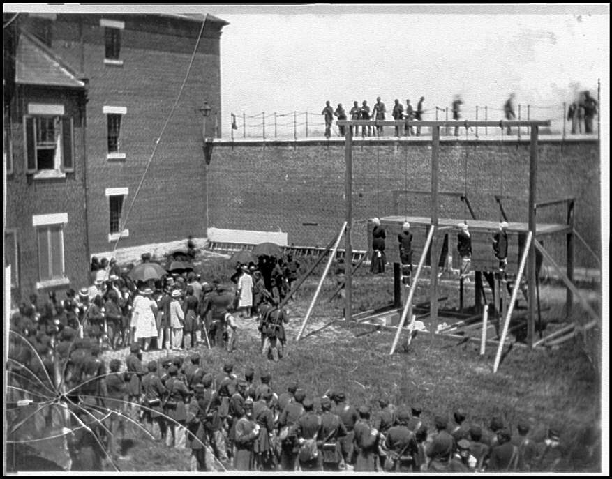 The execution of four of Lincoln's conspirators. August 1865