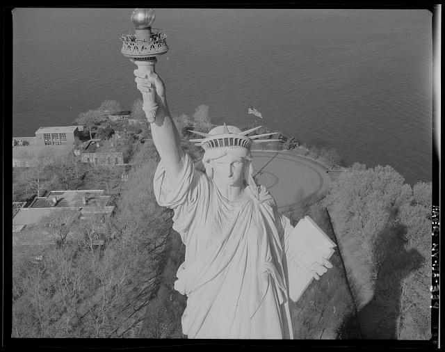 Lady Liberty's is facing north, Statue of Liberty, Liberty Island,NY, NY, Library of Congress, 2006