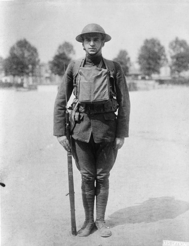 Young American Soldier. World War i. 1917-1918.