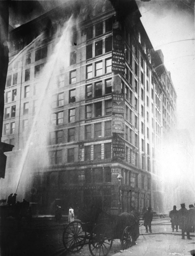 Triangle Shirtwaist Factory on fire, March 25, 1911